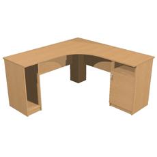 Стол компьютерный угловой с тумбой КСТут-150-150