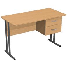 Стол письменный на металлокаркасе СМя-120