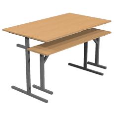 Стол обеденный под скамью 4 местный