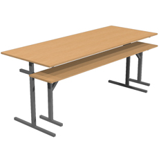 Стол обеденный под скамью 6 местный