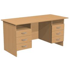 Стол письменный с 6 ящиками и полками
