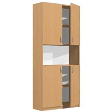 Шкаф-стеллаж для документов ШДД-180-080-п2д