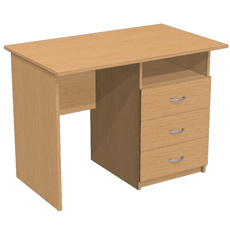 Письменный стол с 3 ящ. и нишей