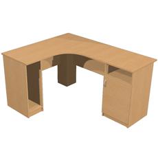 Стол компьютерный угловой с тумбой КСТут-120-150