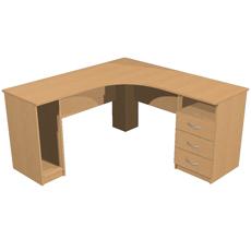 Стол компьютерный угловой с ящиками КСТуя-150-150