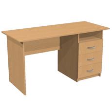 Письменный стол с 3 ящ. и нишей ОСТ-140-т3я