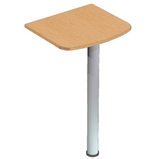 Стол приставной на опоре