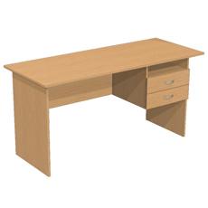 Письменный стол с 2 ящ. и нишей ОСТ-150-2ям