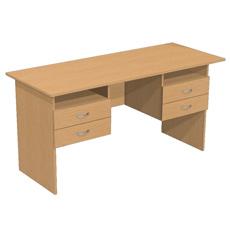 Письменный стол с 4 ящ. и нишами ОСТ-150-4ям