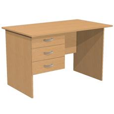 Стол письменный с 3 ящиками С1Т3