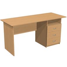 Письменный стол с 3 ящ. и нишей ОСТ-150-т3я